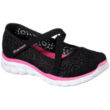 Skechers COMFY CROCHETS Flex 2.0 Shoes (Black)